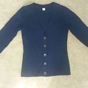 100% wool navy blue cardigan